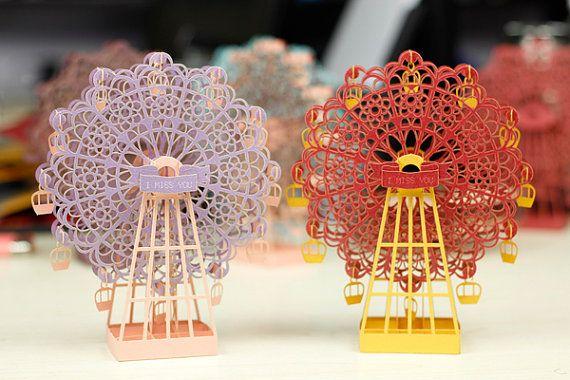 Sale Origami Paper 15cm 3D Ferris Wheel Model Alter Art Gift Idea