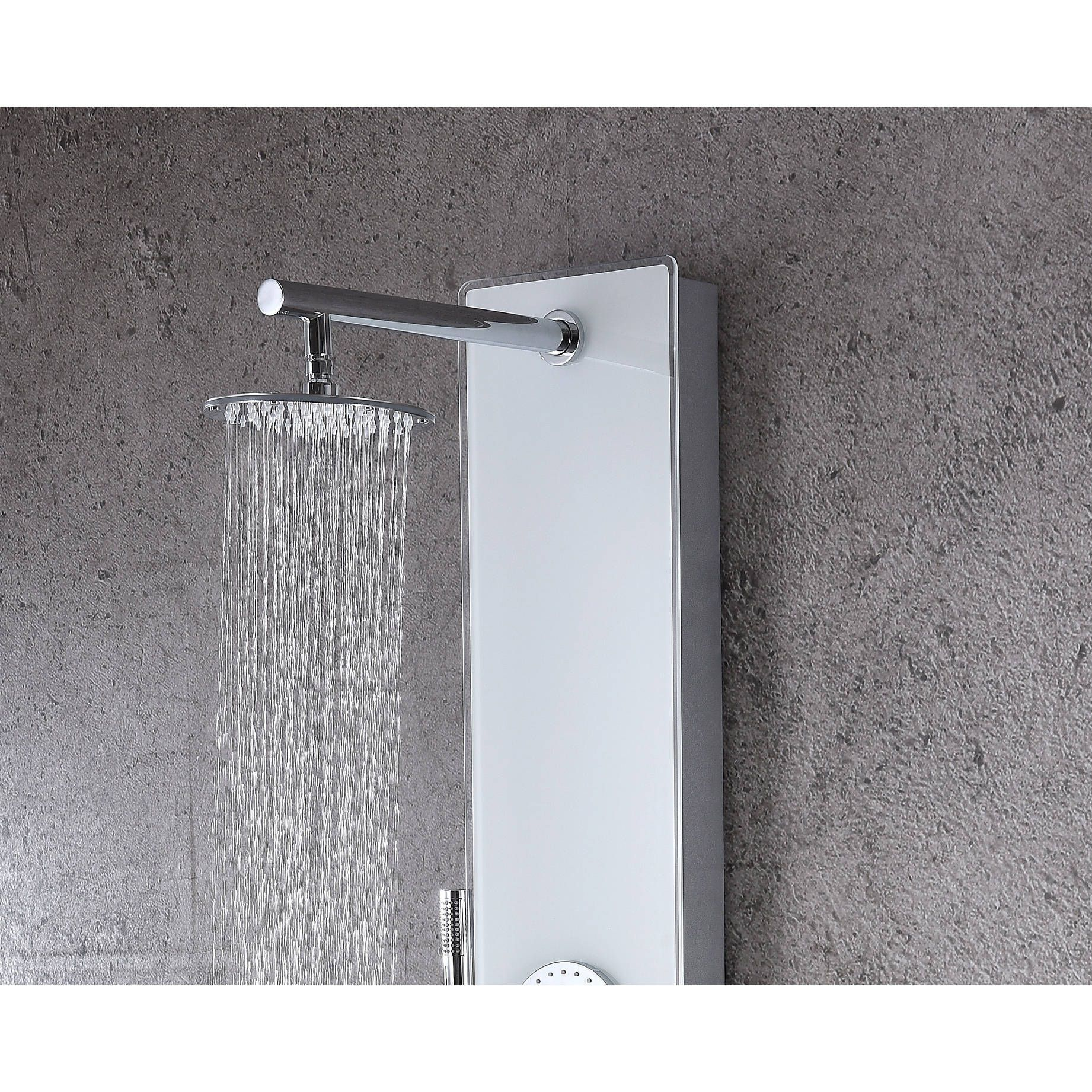 Anzzi Lynn 3 Jetted Full Body Shower Panel With Heavy Rain Shower In