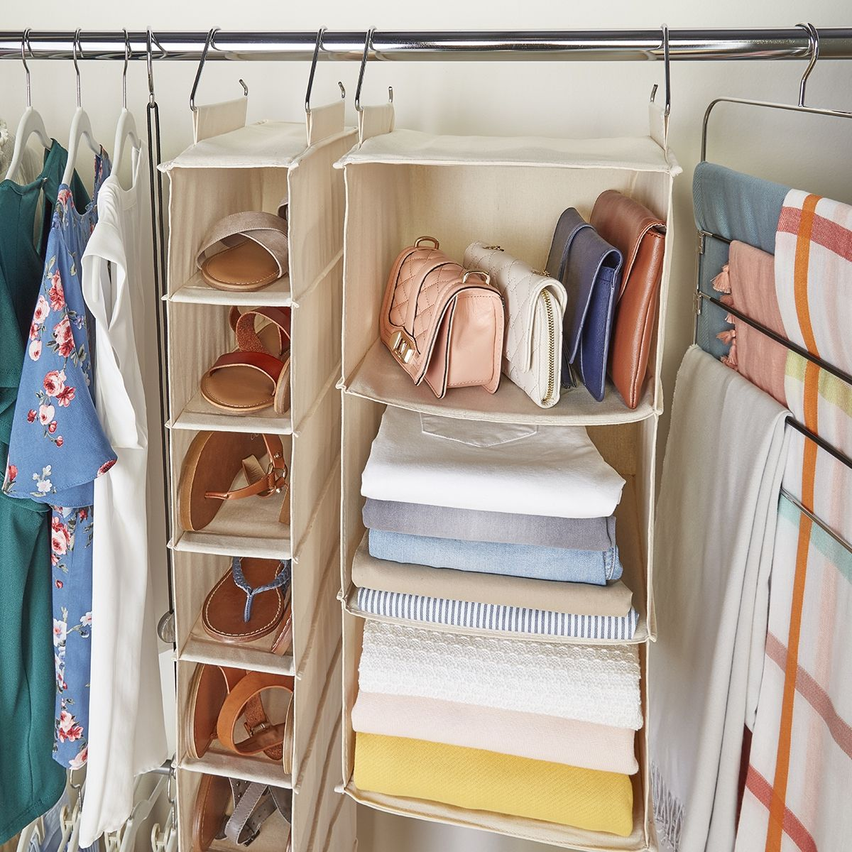 Hanging Closet Organizers Are A Great Way To Make The Most Of The Vertical Space In Your Closet An Hanging Closet Organizer Hanging Closet Closet Organization