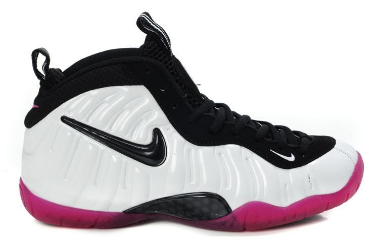 Nike Foamposite Pro Women White Black Pink  55e5153985
