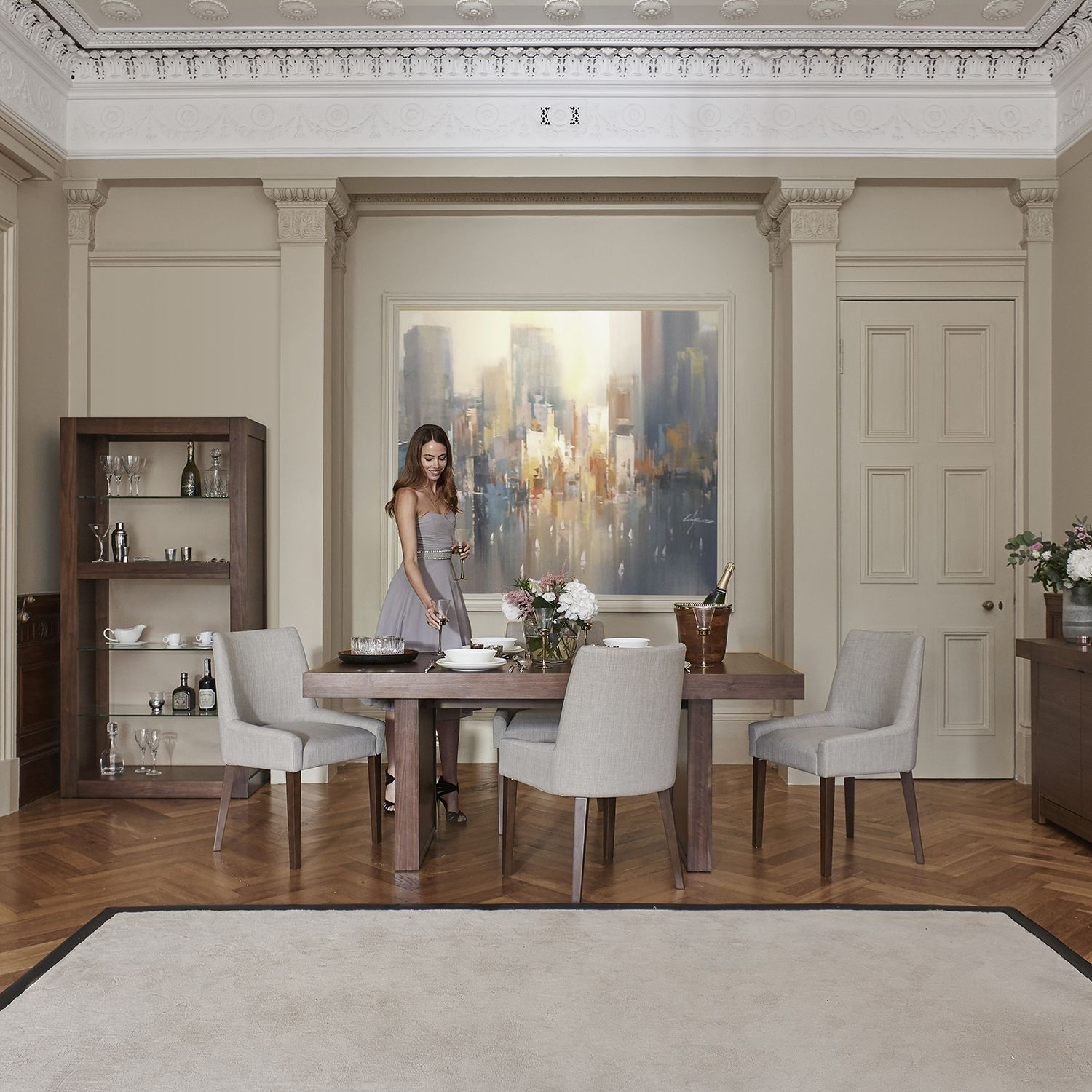 Phoenix Dining || Luxuriously contemporary dining room furniture with an oriental twist, Phoenix ...