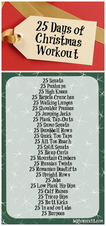 25 Days of Christmas Workout Φυσική κατάσταση και Φυσική