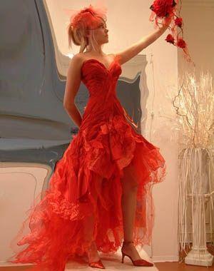 Robe de mariee rouge passion