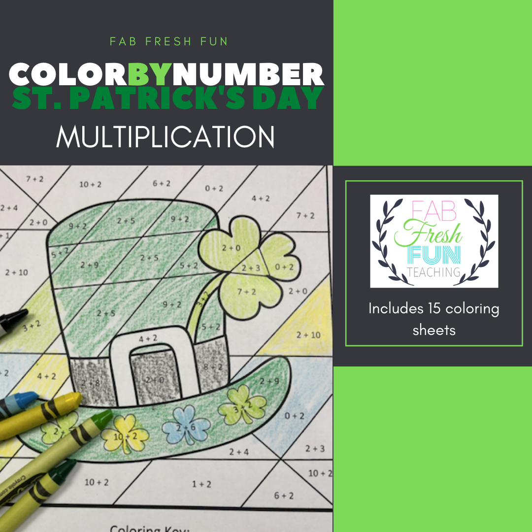 Multiplication Color By Number St Patrick S Day In
