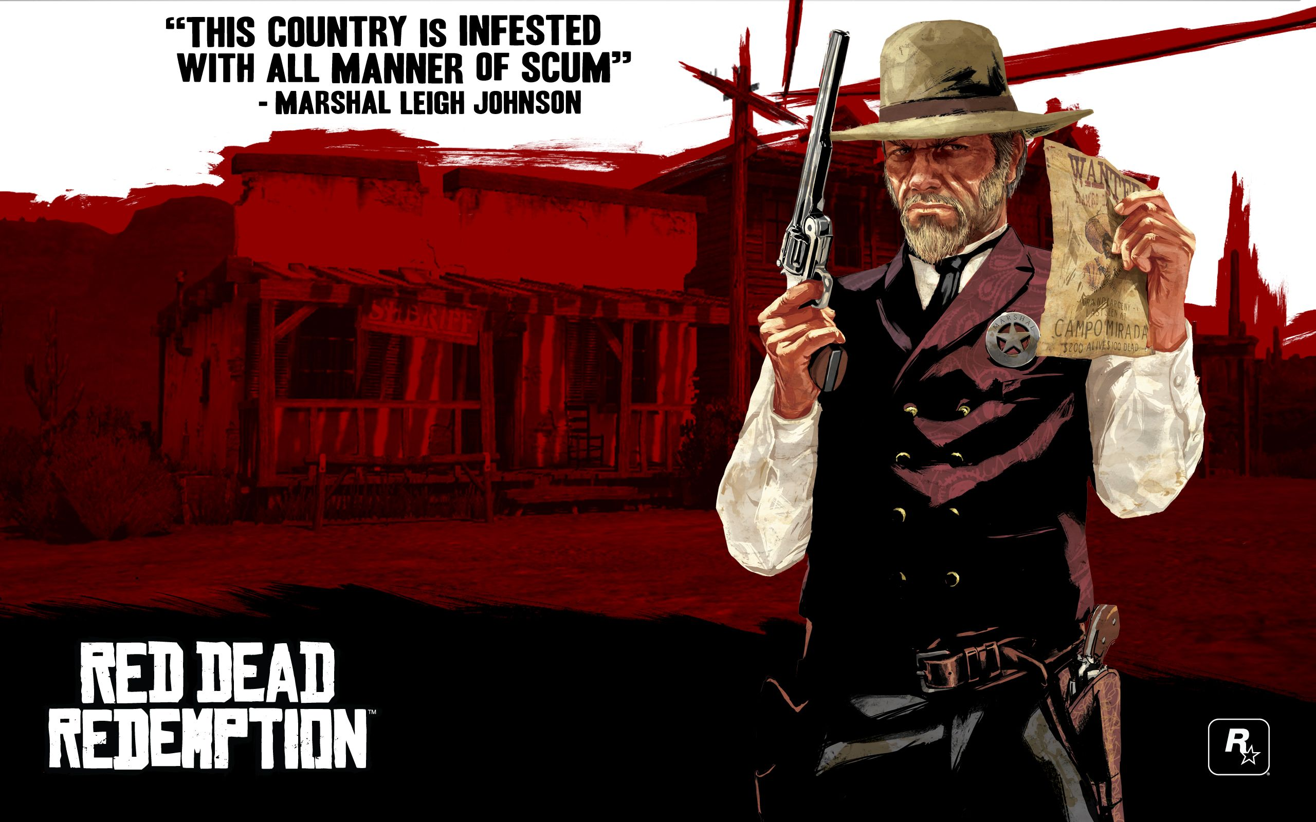 Red Dead Redemption Concept Art Marshal Red dead