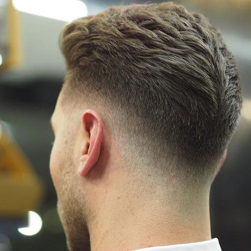 35 Best Men S Fade Haircuts The Different Types Of Fades 2019 Guide Low Drop Fade With Thick Textured Brushed Back Hair Faded Hair Fade Haircut Mens Hairstyles Thick Hair