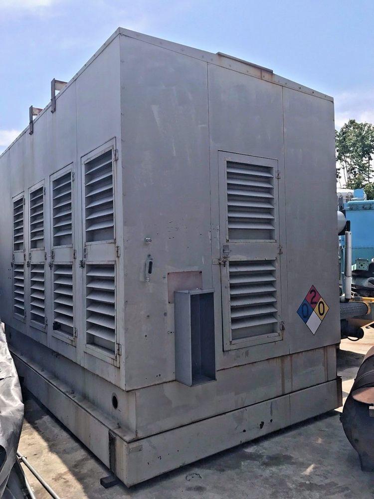 Detroit Diesel 1000 Kw 2400 Volt 3 Ph Container Power Pack Set