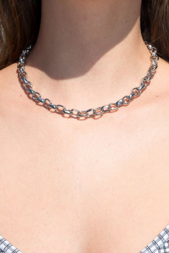 Photo of Thick Silver Chain Necklace