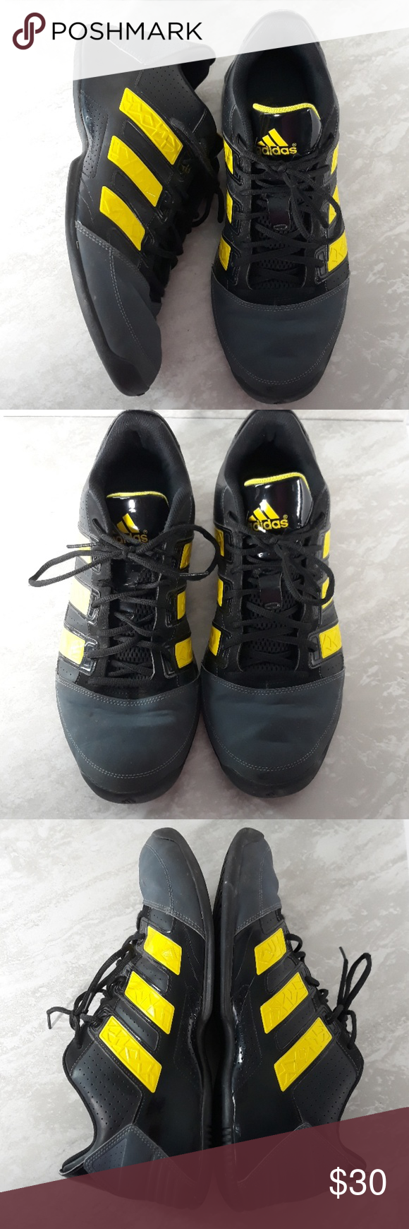adidas black yellow shoes