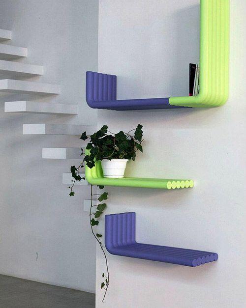 Innovative Bookshelves innovative book designb-line #bookshelf #design   unique