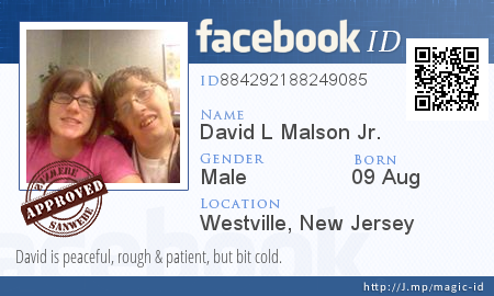 Pin by David L Malson Jr  on My Facebook ID Card (MAY HAVE OTHER