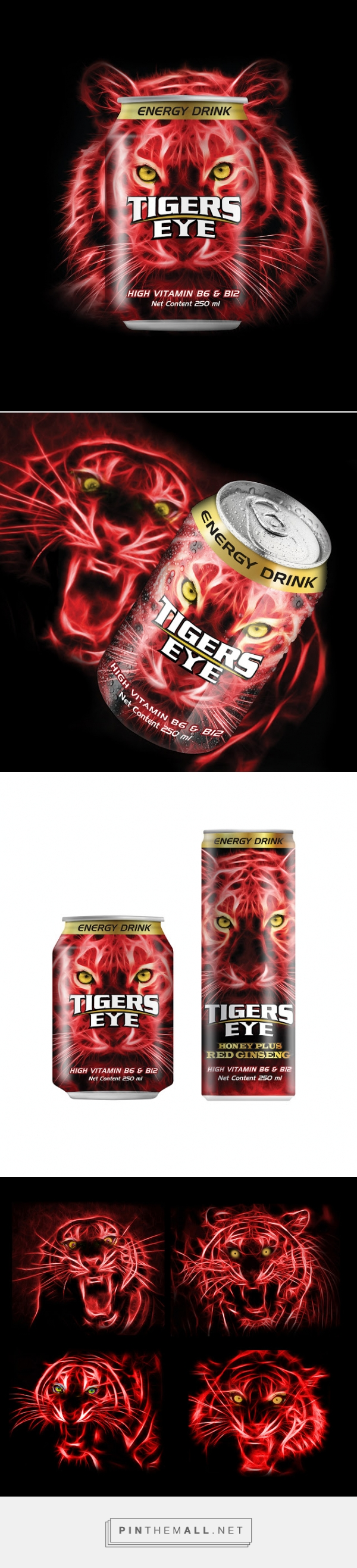 Tigers Eye Energydrink Packaging Designed By Prompt Design Http Www Packagingoftheworld C Packaging Design Inspiration Cosmetic Design Packaging Design