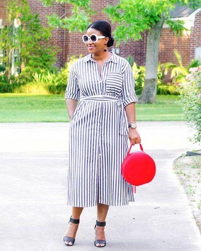 Circle Sunglasses, Striped Dress