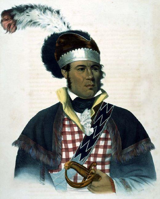 "Charles Bird King (American, 1785 – 1862), ""M'Intosh, A Creek Chief"" kK"
