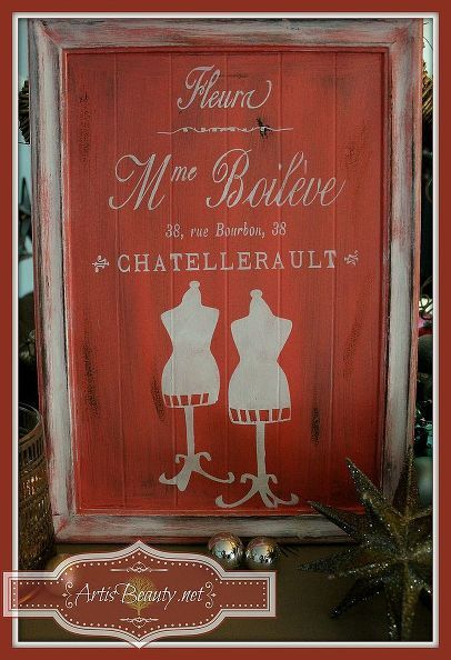 French Invoice Mme Boileve Sign Made From Free Cupboard Door #diy - home invoice