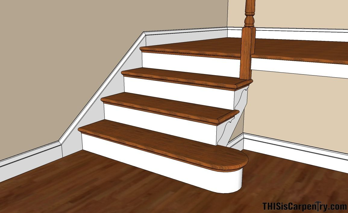 Best Scribing Skirt Boards Thisiscarpentry Stairs Skirting 400 x 300