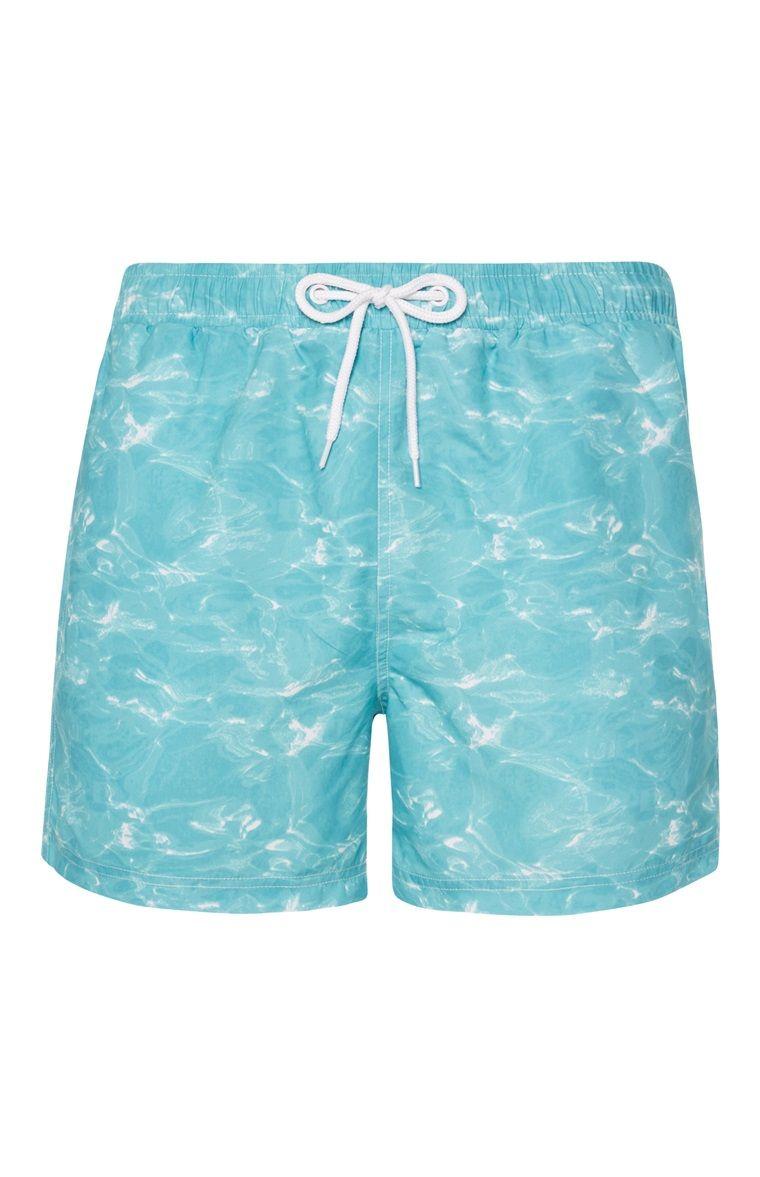 e9484d8be7 Water Print Swim Shorts   Menswear   Swim shorts, Water printing ...