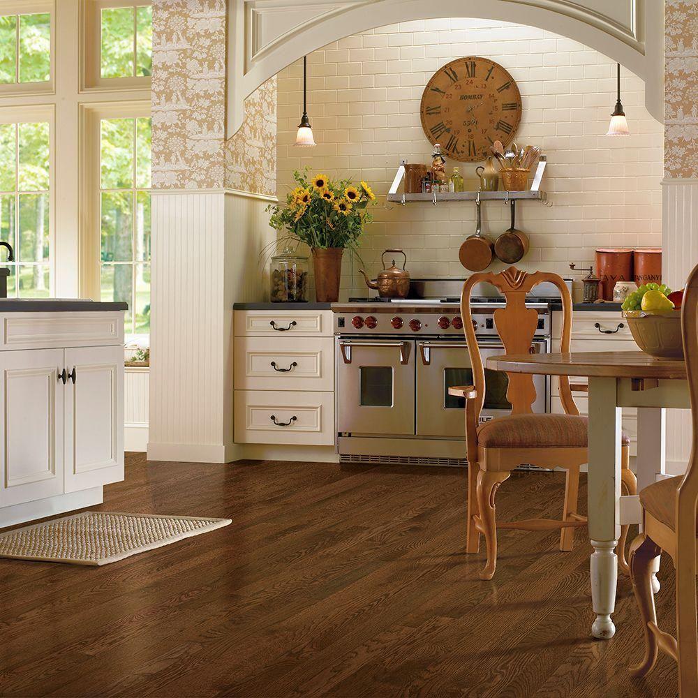 Alternative color scheme, warmer. Vinyl flooring kitchen