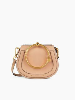 d37edf05a16 Discover Small Nile Bracelet Bag and shop online on CHLOE Official Website.  3S1301HEU in biscotti beige // as seen on Emma Roberts at the Chloé Fall  2017 ...