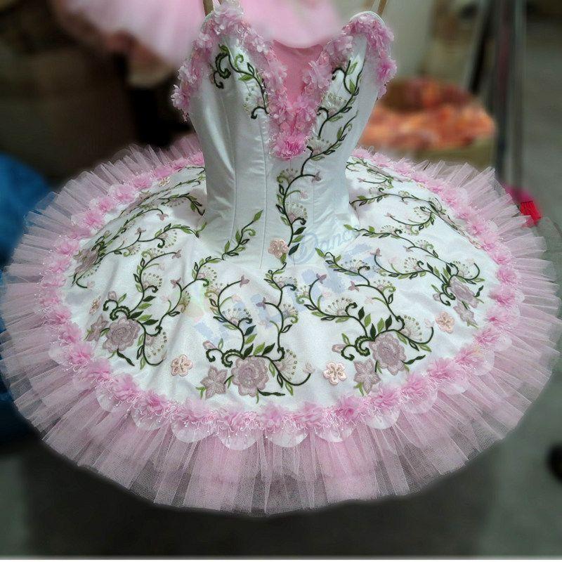 2f3ce5d1dc Rosa traje da bailarina meninas adultas concerto desempenho competição  profissional platter tutu panqueca tutus de ballet clássico(China  (Mainland))