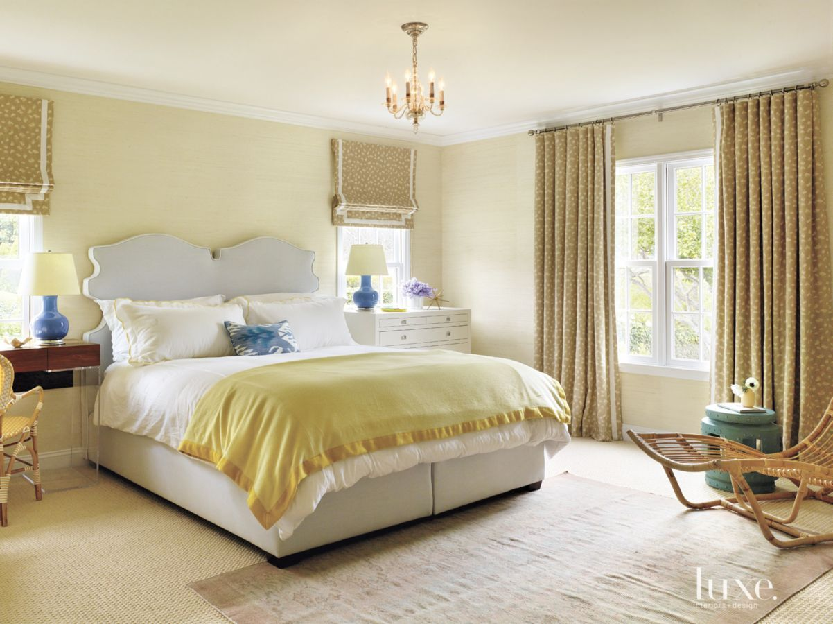 Eclectic Pale Yellow Master Bedroom Yellow Master Bedroom Luxe Bedroom Yellow Bedroom #pale #yellow #living #room #ideas