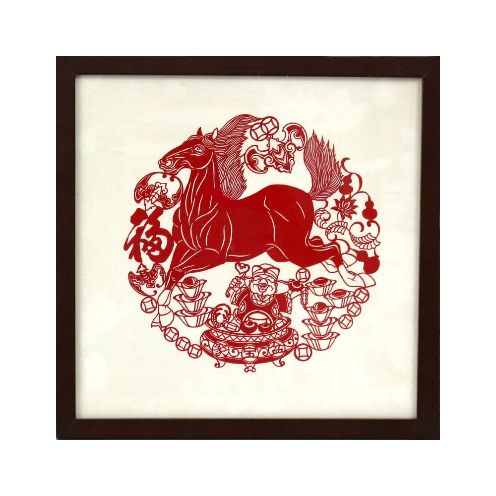 Chinese Wind Stereo Greeting Card Paper Cutting Commemorative Card