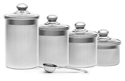 The Steel Canister Setsimple Stylish And Highly Versatile The Plus Steel Canister Set Stainless Steel Canisters Stainless Steel Canister Set Canister Sets
