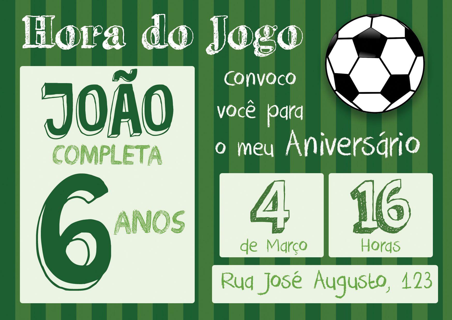 f42ab4fd06 Convite Digital Futebol! Surpreenda seus convidados! VANTAGENS DA ARTE  DIGITAL   Você pode imprimir onde