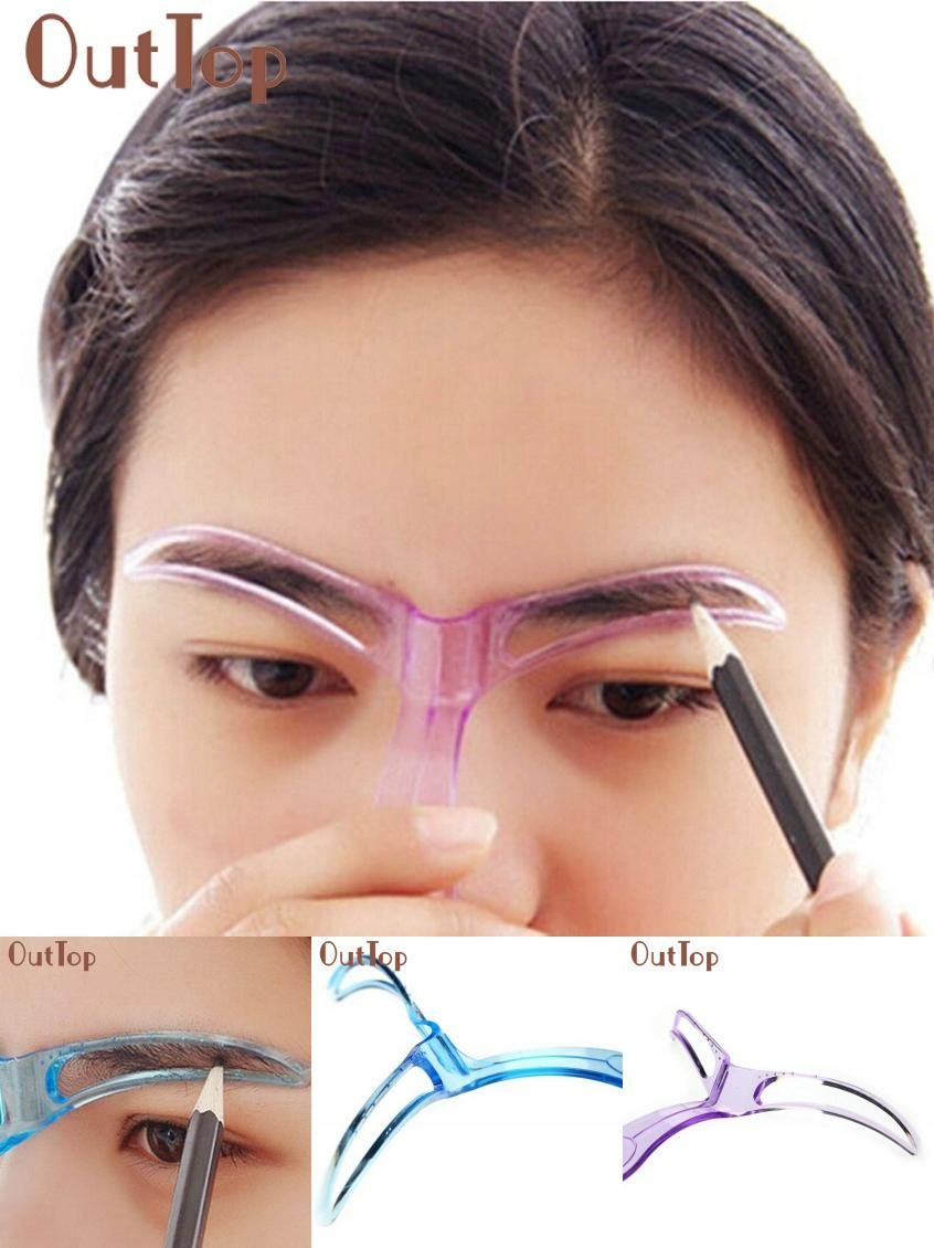 Visit To Buy New Arrival Professional Beauty Tool Makeup Grooming Eyebrow Template Drawing Blacken