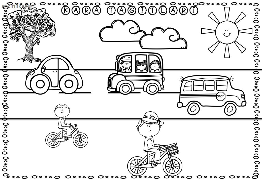 Kara Taşıtları Taşıtlar Kindergarten Kindergarten Activities Ve