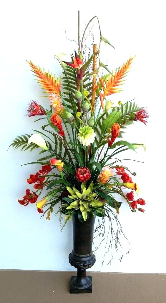 Awesome Home Decor Silk Flower Arrangements Website Ideas With Regard To 19