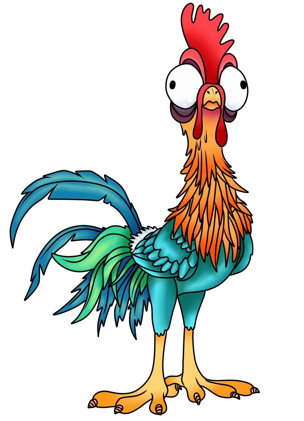 Hei Hei Coloring Page Luxury Moana Heihei Coloring Pages Hellokids Wickedbabesblog Com Rooster Art Animal Drawings Cute Drawings