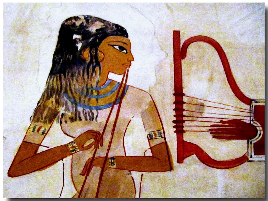 Women in ancient egyptian art 015 ancient egyptian art for Ancient egyptian mural