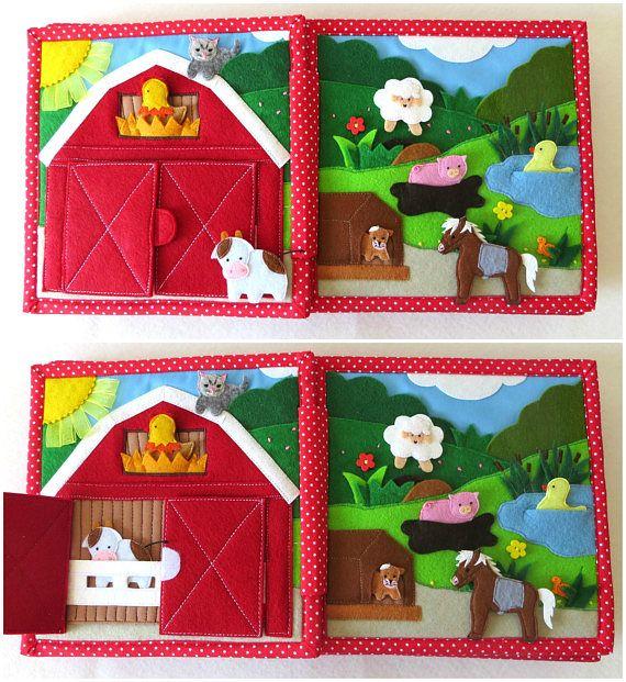 Ruhiges Buch personalisierte fühlte Buch Aktivität Buch beschäftigt 21 x 21 cm 4-10 Seiten Kleinkind Montessori lernen fühlte Buch pädagogische Kind Toy Boy #felttoys