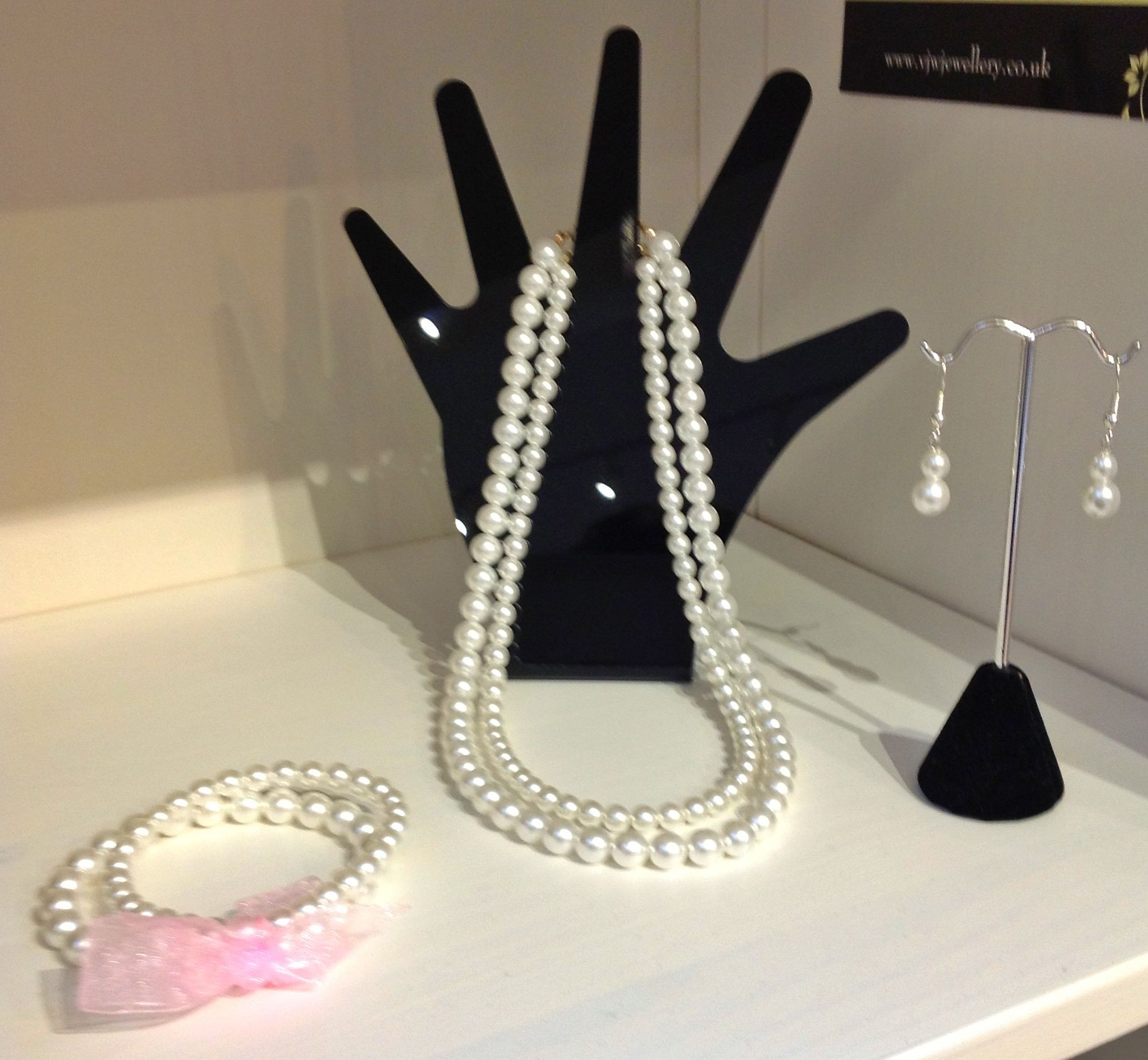 Classic white glass pearls