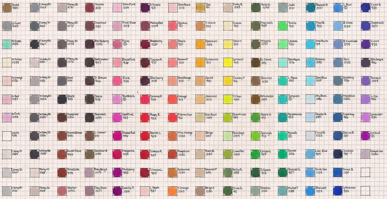 Prismacolor pencils 150 chart prismacolor color chart by prismacolor pencils 150 chart prismacolor color chart by josephine9606 on deviantart nvjuhfo Choice Image