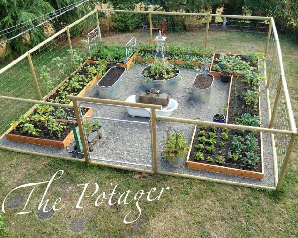 Oh how I'd love this...minus the bathtub -   22 enclosed garden beds ideas