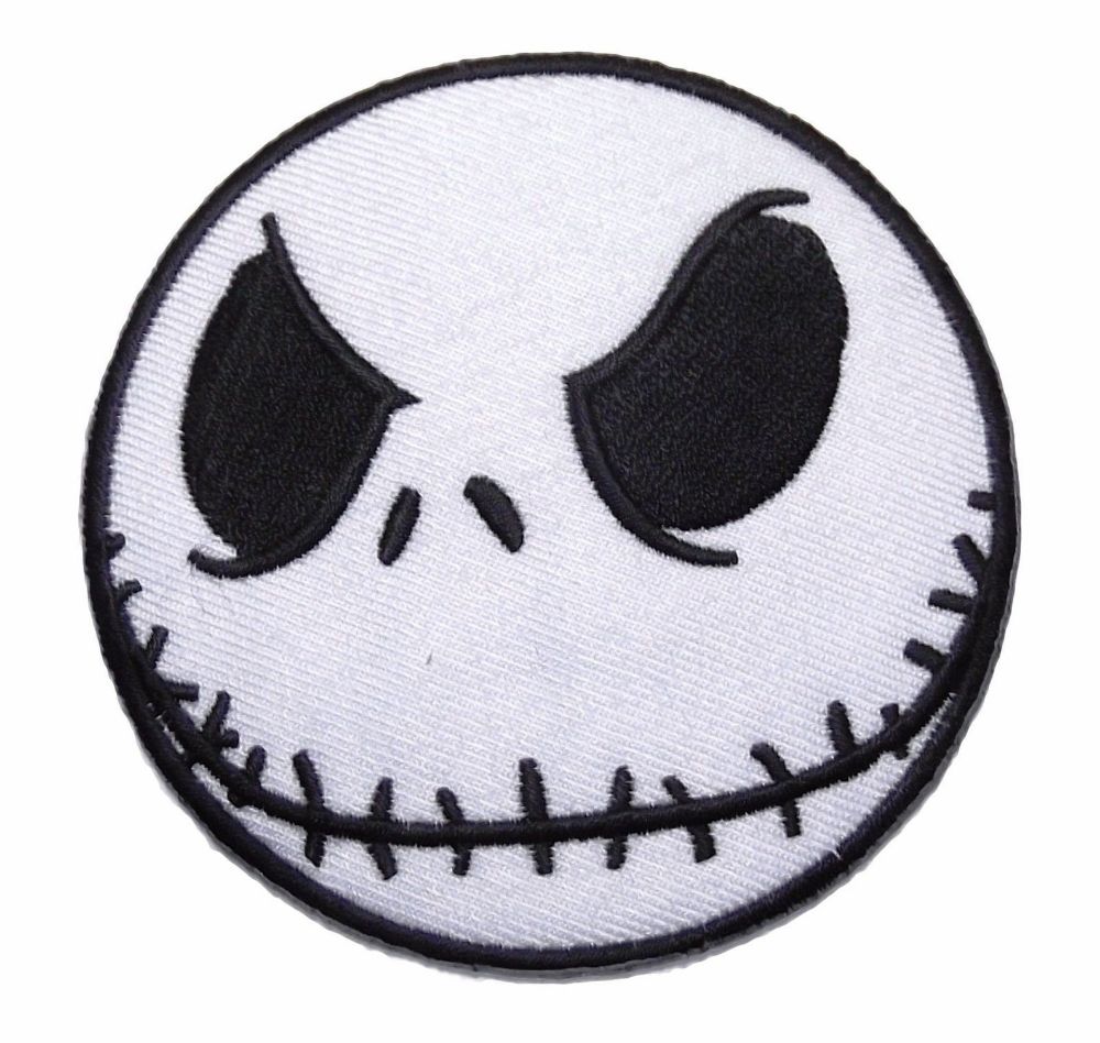 Nightmare Before Christmas Jack Skellington Head Embroidered Etsy Embroidered Patches Nightmare Before Christmas Jack Skellington