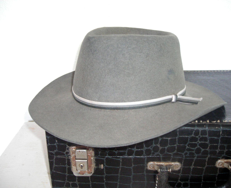 Gray Akruba Wide Rimmed Hat The Great White Shark Australian Outback Hat Greg Norman Collection Auss Australian Outback Hat Outback Hat The Great White