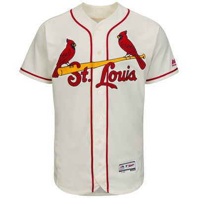 bbbb4a0c Men's St. Louis Cardinals Majestic Cream Flexbase Authentic ...