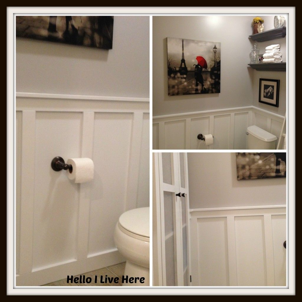 Board and Batten Wainscoting.  Easiest step by step