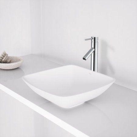 VIGO Hyacinth Matte Stone Vessel Bathroom Sink #bathroomrenovations