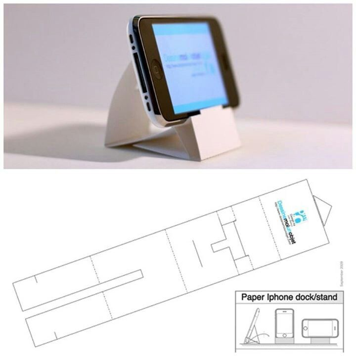 DIY IphoneIpod Stand  Vdo Instruction  Download Template