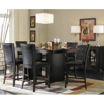 Homelegance Daisy 5 Piece Counter Height Dining Room Set In Custom Espresso Dining Room Sets Decorating Design