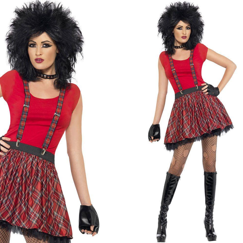 Ladies 80s Punk Fancy Dress Costume - Instant Punk Outfit ...