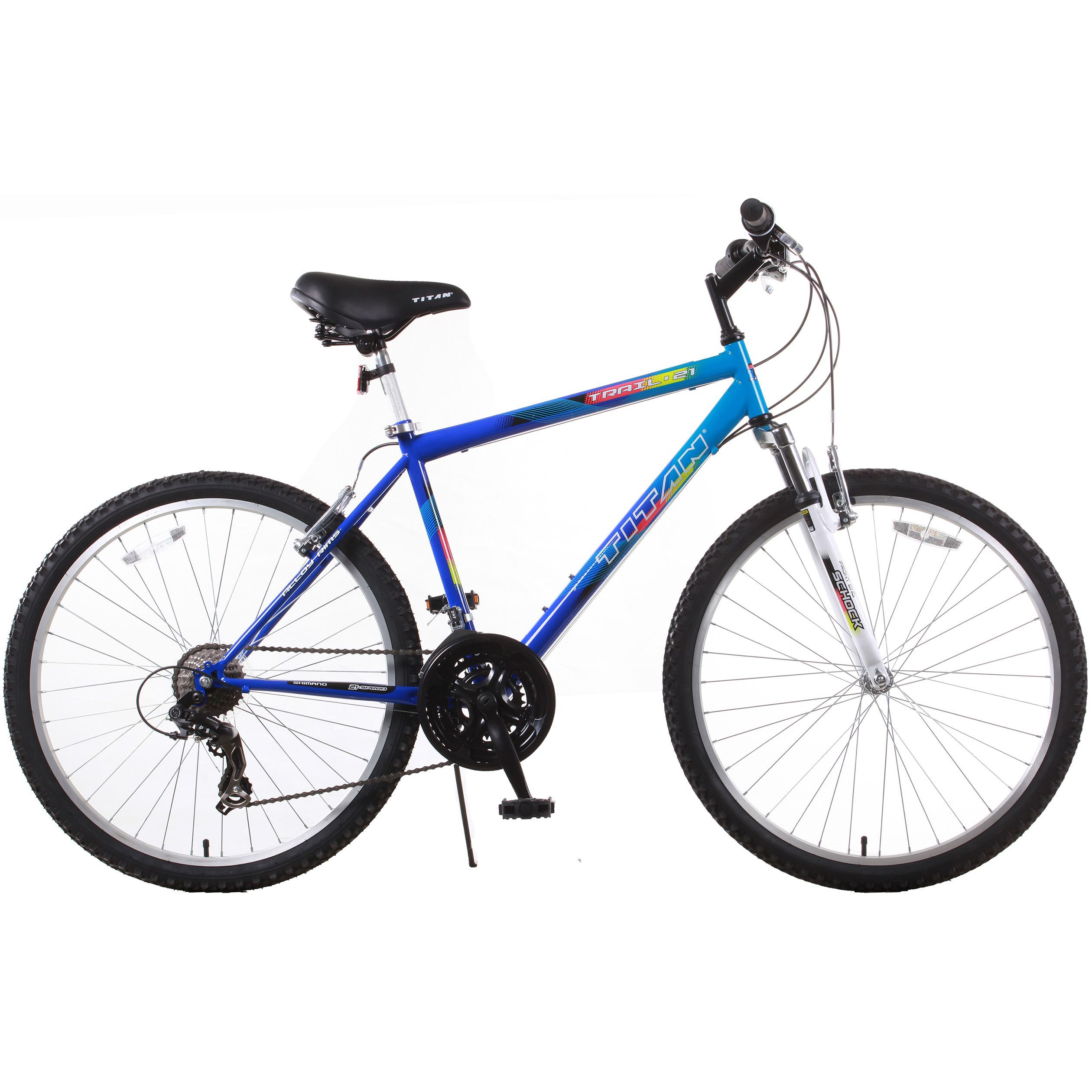 Hi-Ten Steel-Frame Mountain Bike with Zoom Front-Suspension Fork ...