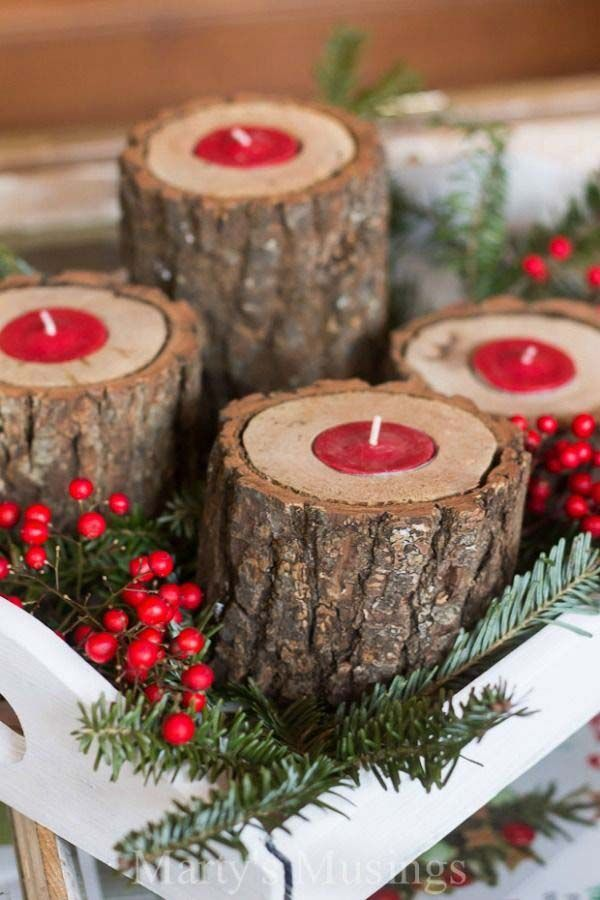 28 Ideas To Decorate Your Home With Recycled Wood This Christmas - wood christmas decorations