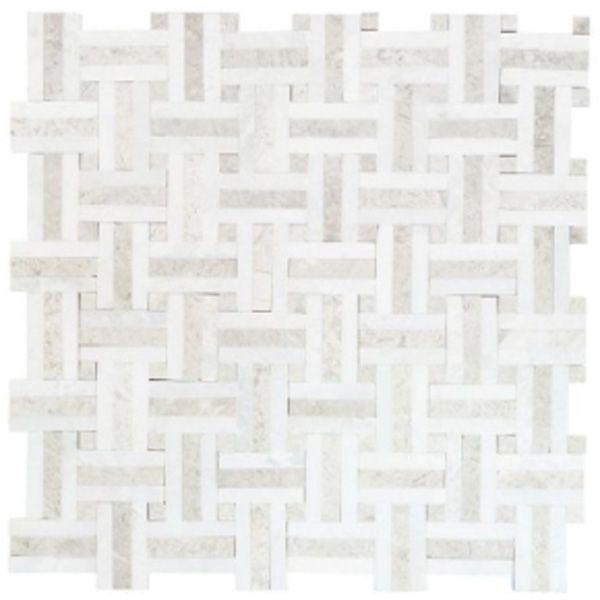 Jeffrey court windswept marble mosaic tile would look - Marble look bathroom floor tiles ...