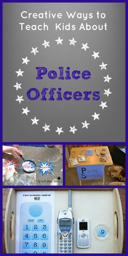 Police Officer Activities For Kids Community Helpers Preschool