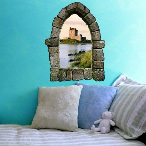 Castle Window Wall Decal Design 3 & Castle Window Wall Decal Design 3 | decorating ideas | Pinterest ...